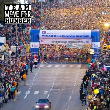 Team Move For Hunger CNO Financial Indianapolis Monumental Marathon 2017