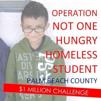 NOT ONE HUNGRY HOMELESS STUDENT PALM BEACH COUNTY