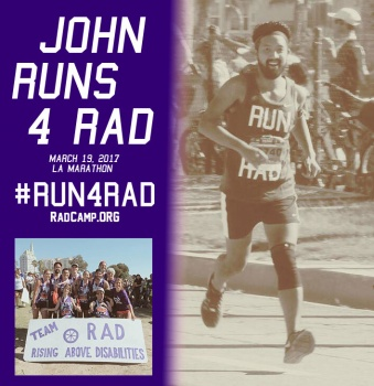 John RUNS 4 RAD - LA Marathon 2017 for RAD Camp