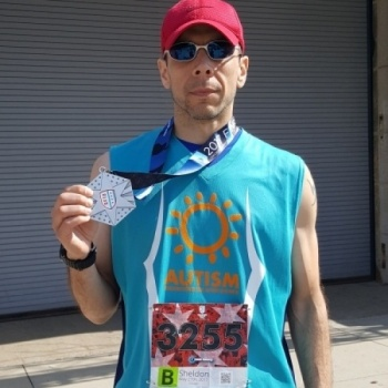 Sheldon Cohen for 2017 Chicago/Marine Corps Marathon RUN FOR AUTISM