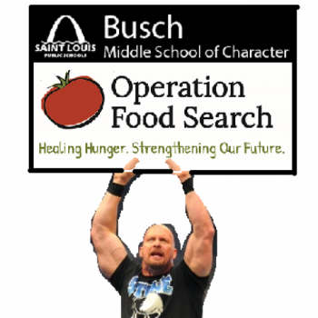 Busch Middle School of Character Food Drive Image