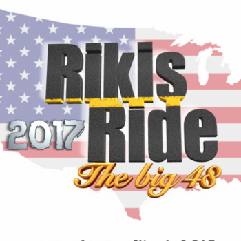 RikisRide17 48 state motorcycle ride for Claires Foundation for Cystic Fibrosis Image