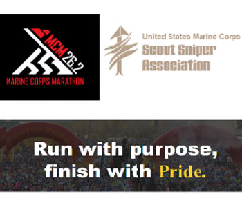 USMC Scout Sniper Association - Marine Corps Marathon - Run For A Cause