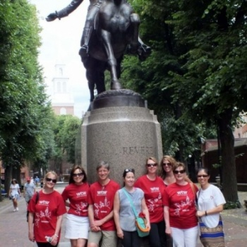 Boston walks the world for cradles for crayons