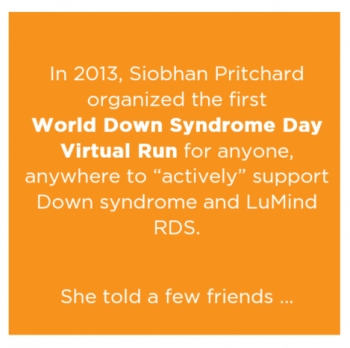 LuMind RDS 321 Virtual Run for World Down Syndrome Day Image