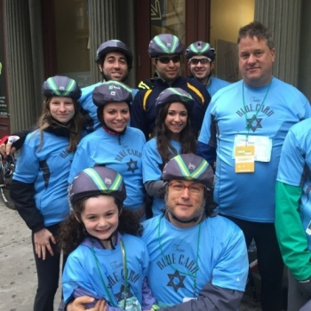 BIKE FOR BLUE CARD'S HOLOCAUST SURVIVORS AT TD 5 BORO BIKE TOUR