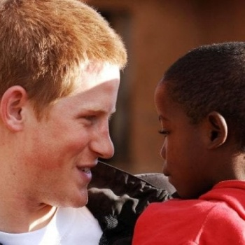 Helping to raise money for Prince Harry's charity orphanage homes in West Africa