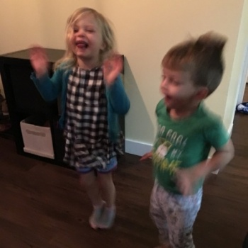 Kezi and Asher dance for Africa Image