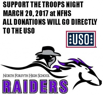2017 North Forsyth Men's Lacrosse Support the Troops