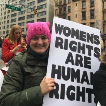 Katie Reimer lifts for Planned Parenthood