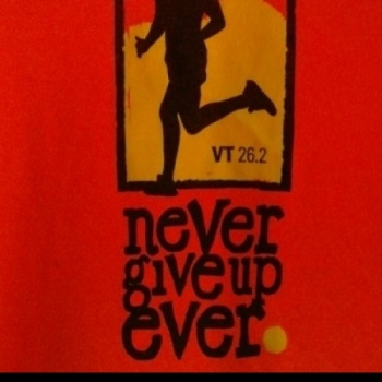 Never Give Up Ever- Vermont City Marathon 2017