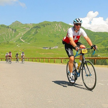 Dolomites bike marathon for a sailing charity project in Naples Image