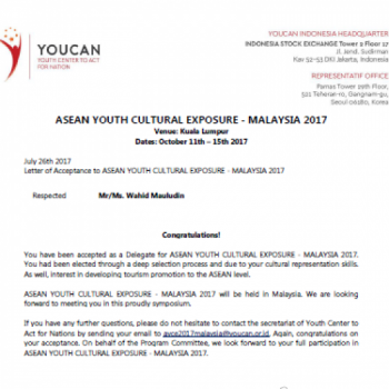 fundraising to go to ASEAN Youth Cultural Exposure in Malaysia.