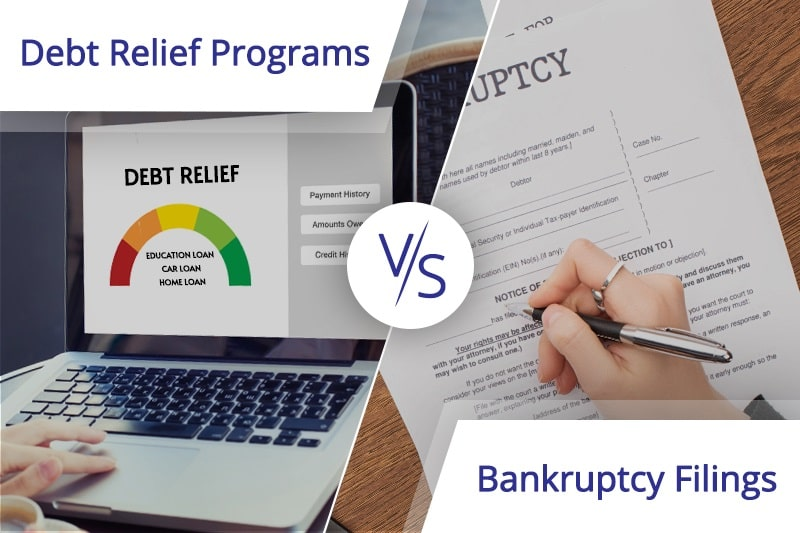 Debt Relief Programs vs. Bankruptcy Filings in 2020: The Pros and Cons of Each