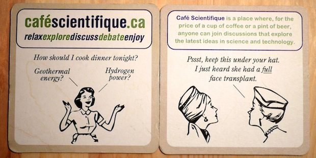 Science themed coaster set 1