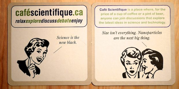 Science themed coaster set 4