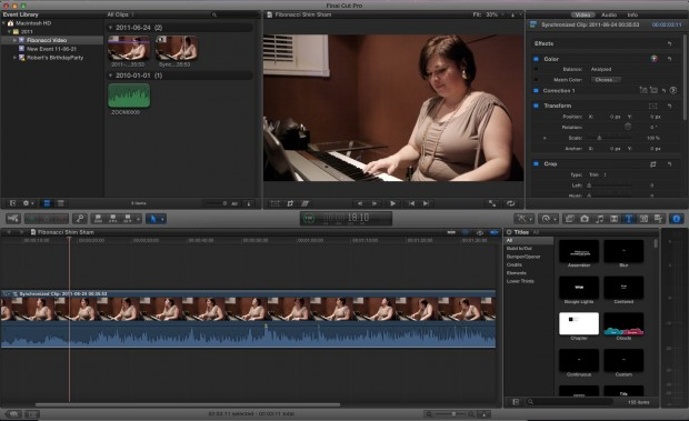Final Cut Pro X screen shot