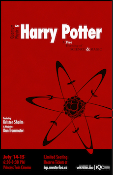 Poster for Quantum Physics and Harry Potter Show