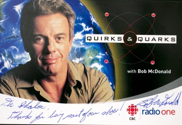 Bob McDonald signed postcard