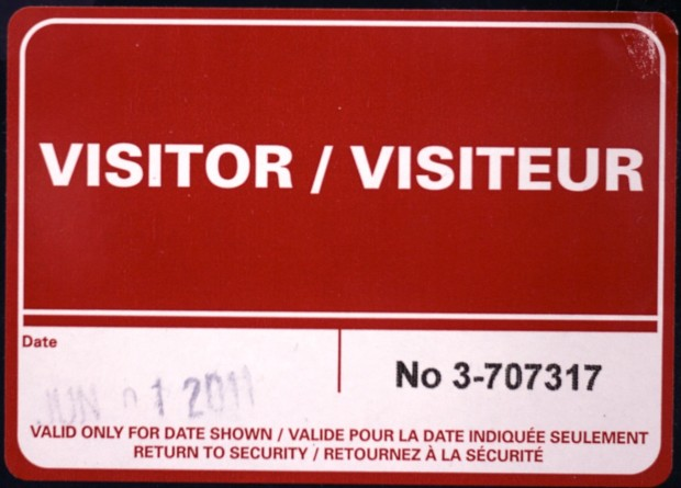 visitor badge for cbc