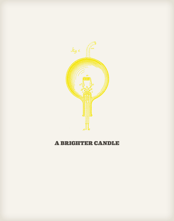 A faster candle by Michael Mulvey