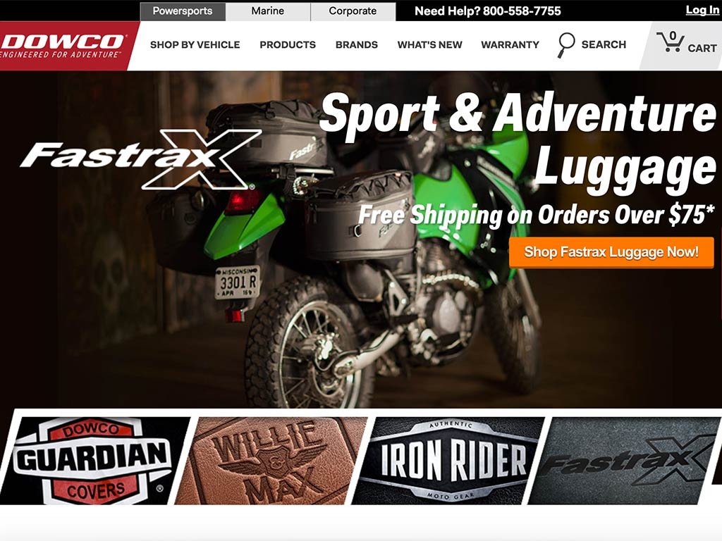 The home page of Dowco® Powersports™
