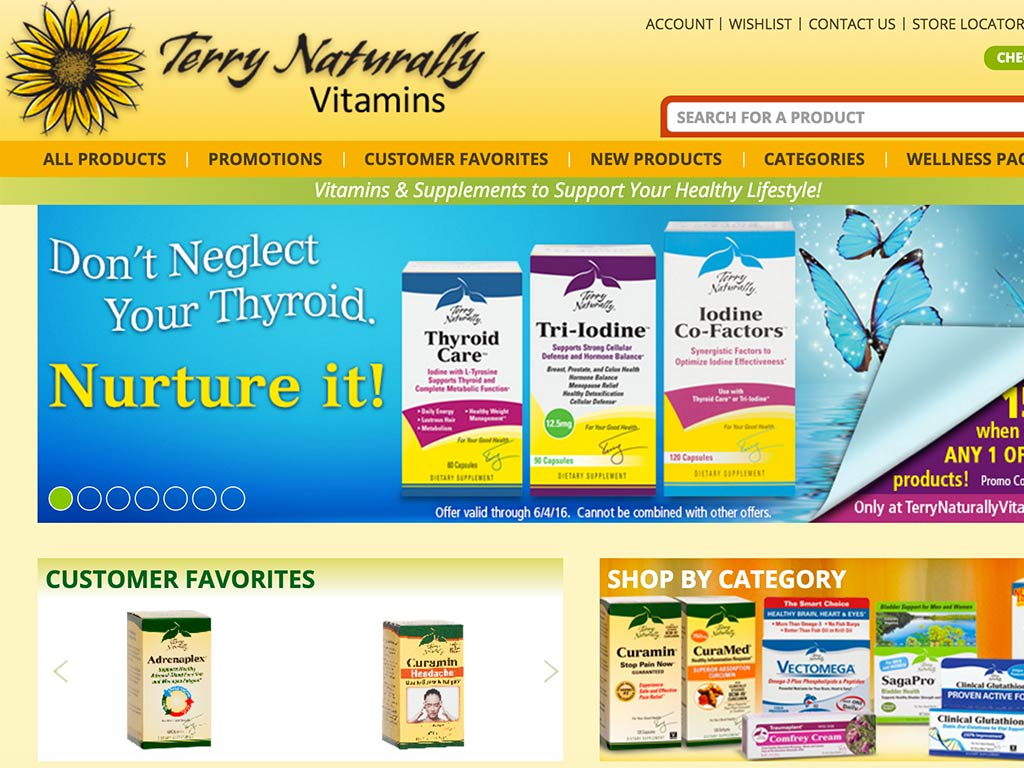 The web site of Terry Naturally Vitamins