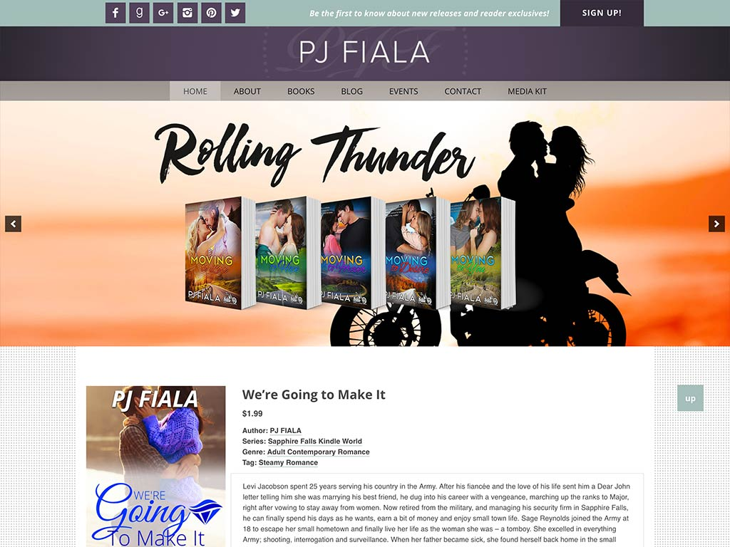Romance Author PJ Fiala
