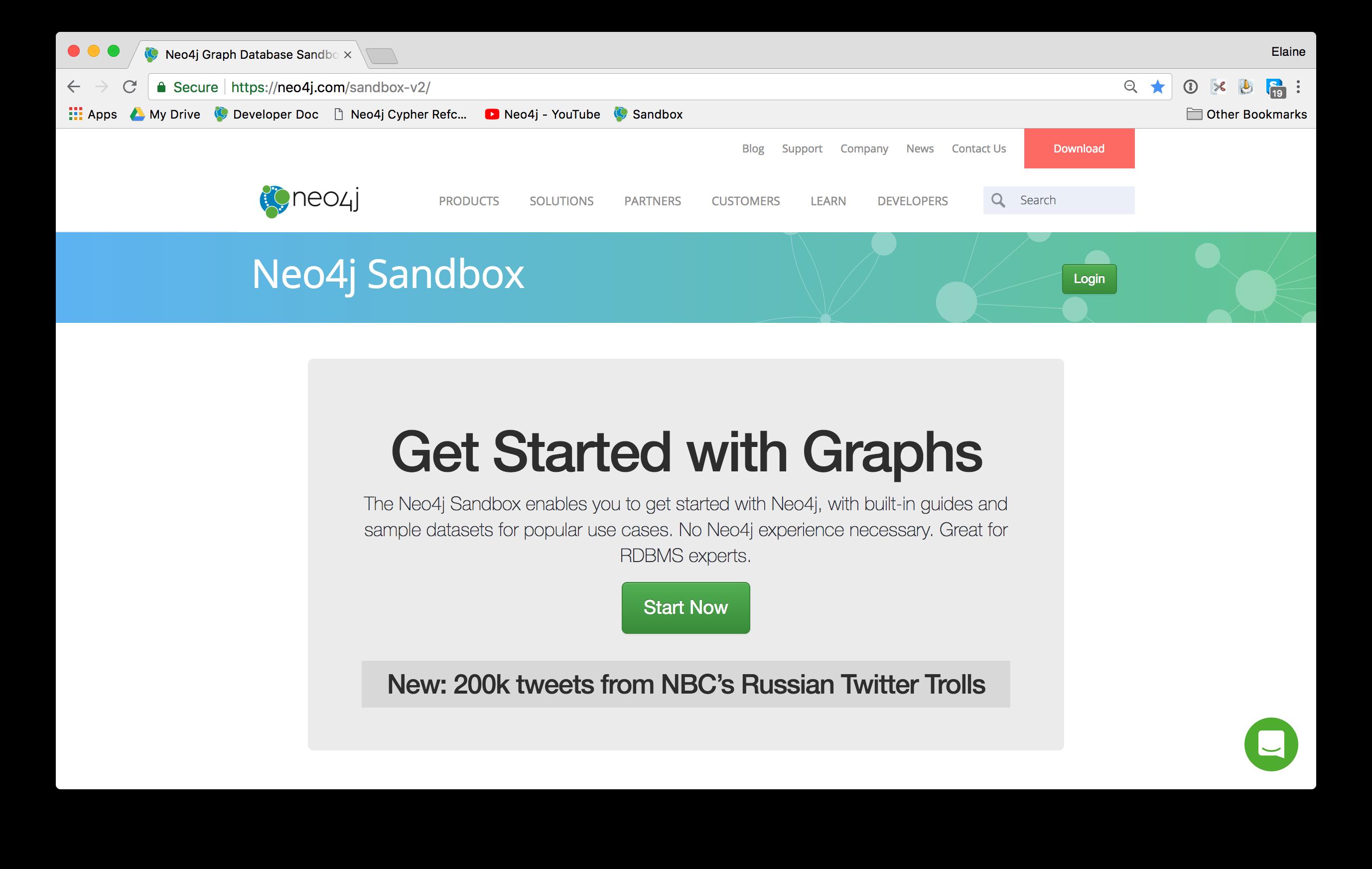 Neo4jSandbox