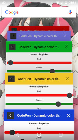 Dynamic Color theme #1