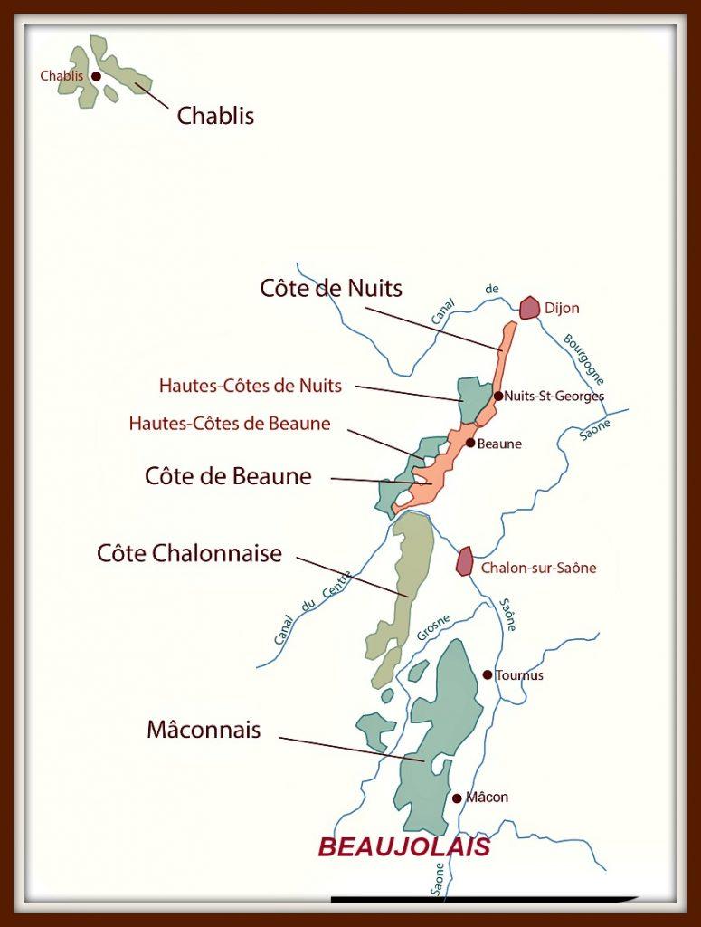 Map of Burgundy