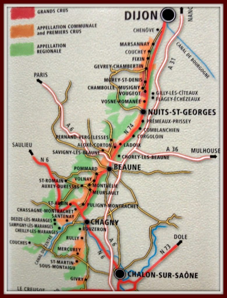 Cote d'Or map