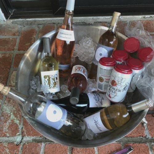 Bucket of cold wine