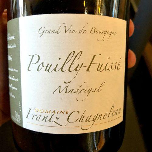 Frantz Chagnoleau Pouilly Fuisse