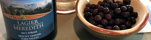 Lagier Meredith Syrah and olives