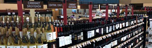 Raleys Supermarket Wine Section