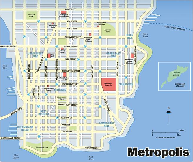 metropolis-map - DC Comics News