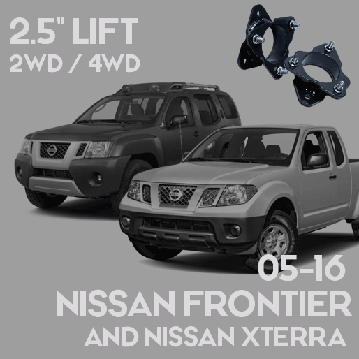 """Nissan Frontier and Xterra 2.5"""" Leveling Lift Kit (2005 – 2016)"""