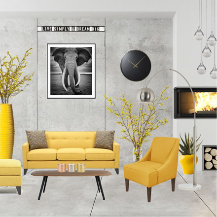 New Year Luxurious Style Living Room Design