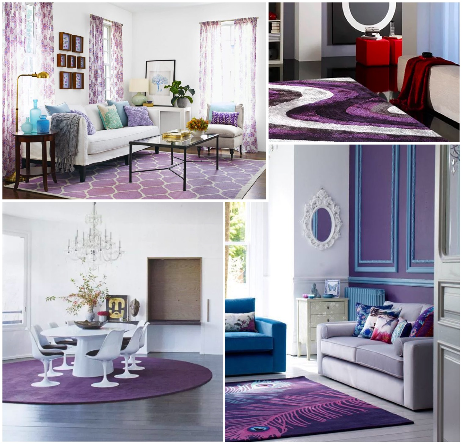 The color of 2018 - Ultra violet: ultra violet color carpet or rugs for living room and dining room