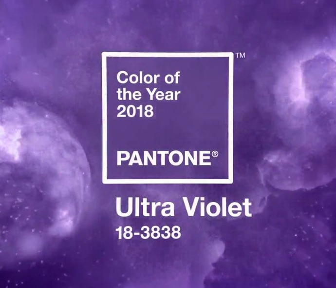 The Color of The year for 2018 - Ultra-violet from Pantone