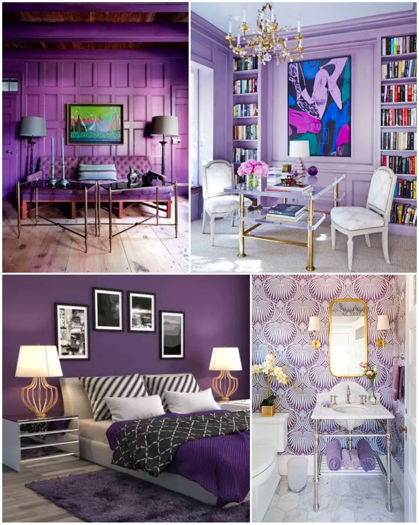 The color of 2018 - Ultra violet: ultra violet color for accent wall large space