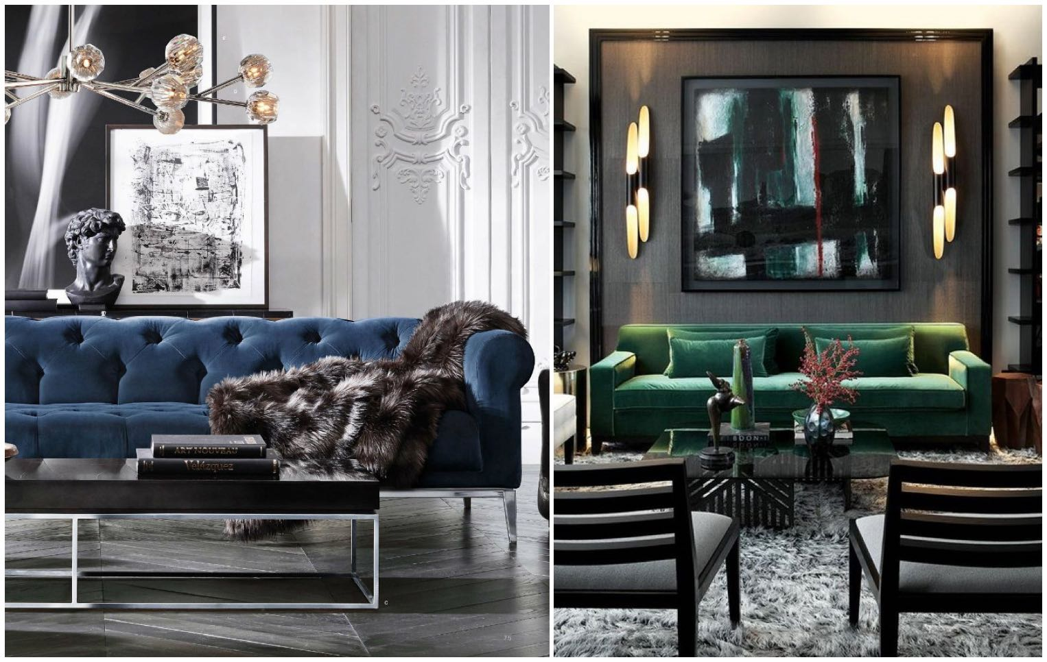 Captivating Velvet In Interior Design: Luxury Mixed With Modern Style Interior Design