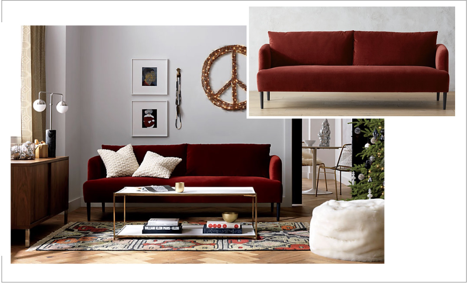 Velvet In Interior Design: Ronan Velvet Wine Sofa With A Interior Design  Template