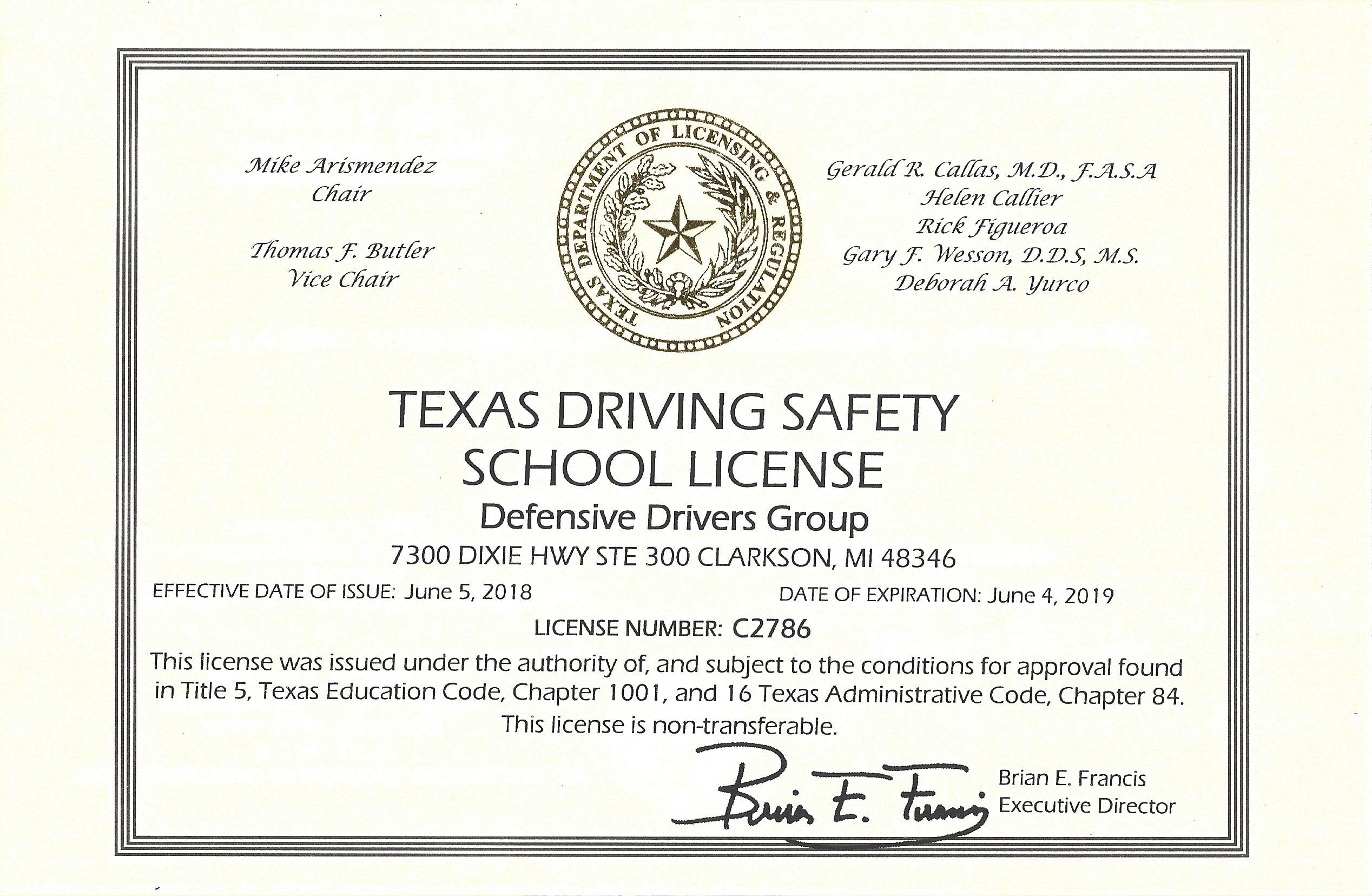image regarding Defensive Driving Course Online Texas Printable Certificate called Texas Defensive Guiding On the net Plans TDLR Authorised - Residence