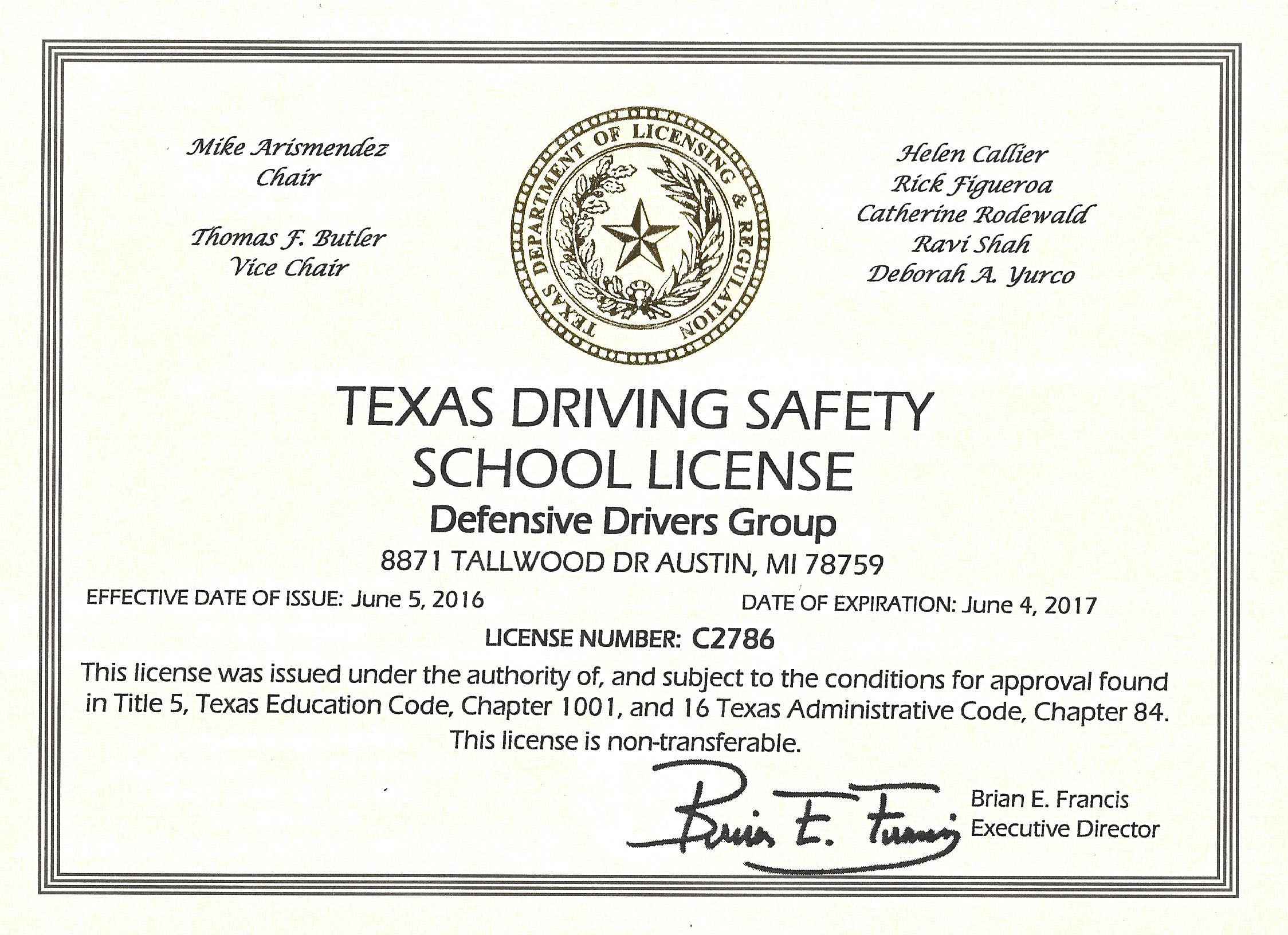 Texas Defensive Driving Online Courses TDLR - Home