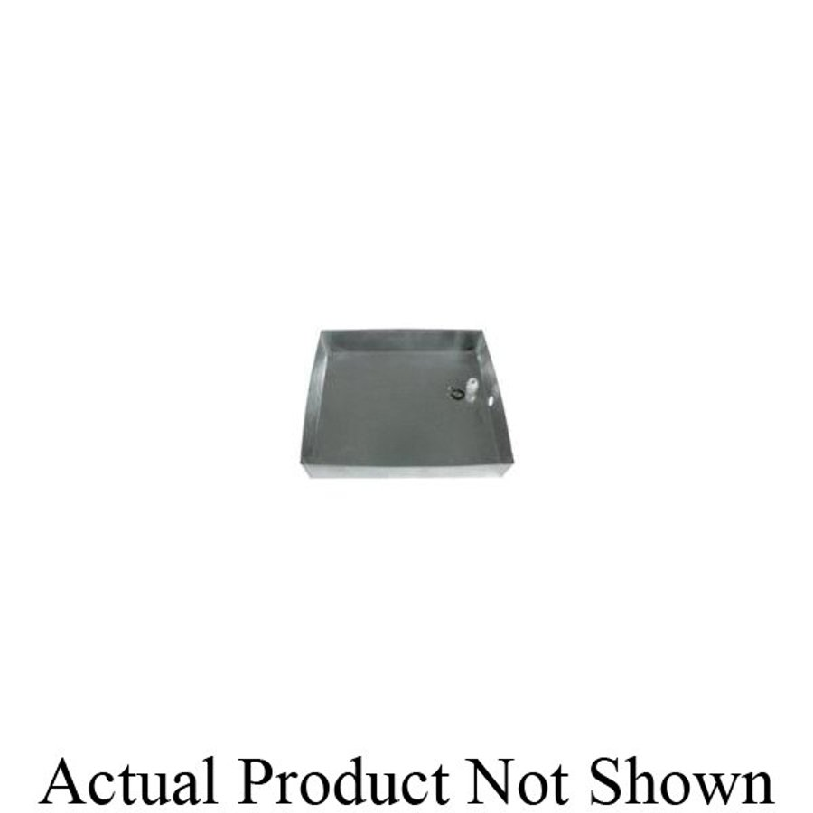 Pace Supply Square Drain Pan With 1 In 1 1 2 In Pvc Drain Fitting Steel