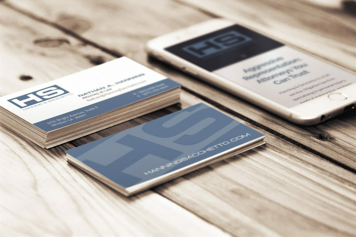 DesignerKen Graphics - Business Cards - Hanning & Sacchetto, LLP.