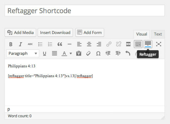 Reftagger Shortcode - Screenshot 4