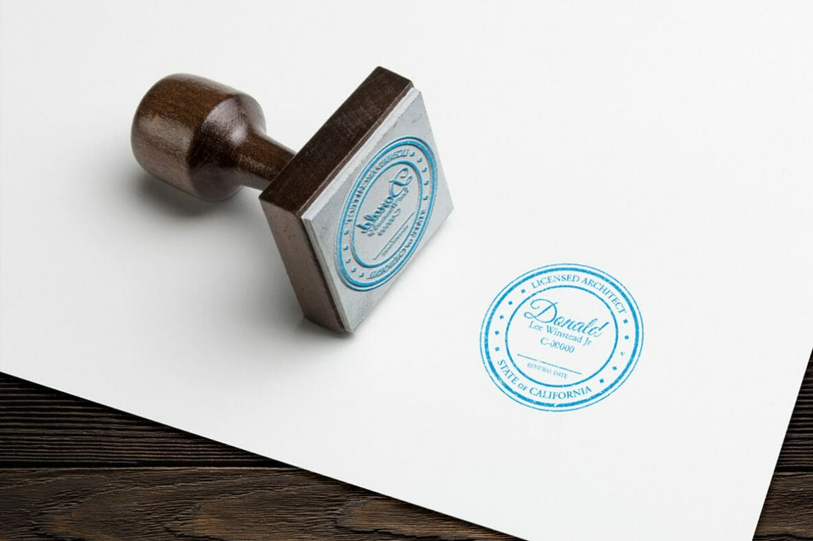 DesignerKen Graphics - Architect Seal Logo Stamp